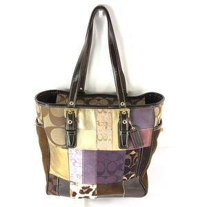 Coach Eva Patchwork Tote Bag G06S-F10515